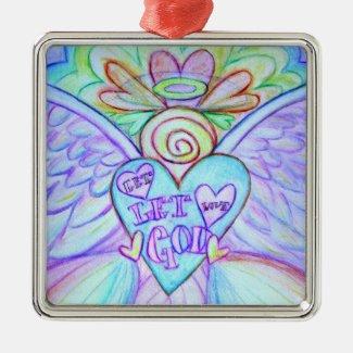 Let Love Let God Angel Holiday Ornament