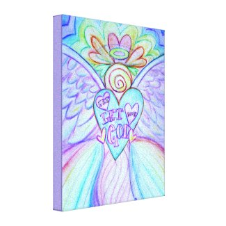 Let Love Let God Angel Painting Wrapped Canvas Art