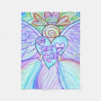 Let Love Let God Guardian Angel Chemo Blanket