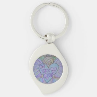 Let Love, Let God Guardian Angel Custom Keychains
