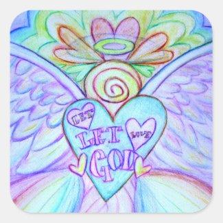 Let Love, Let God Guardian Angel Custom Stickers