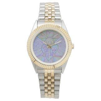 Let Love Let God Guardian Angel Custom Wrist Watch