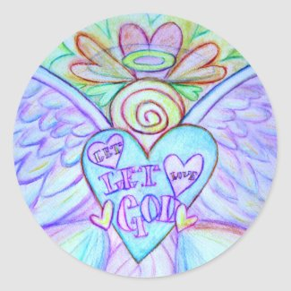 Let Love, Let God Guardian Angel Decal Stickers