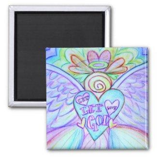 Let Love Let God Guardian Angel Magnet