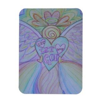 Let Love, Let God Rainbow Angel Magnet