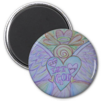 Let Love Let God Rainbow Angel Magnet