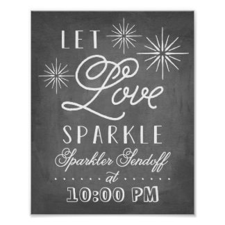 Let Love Sparkle | Sparkler Send Off Poster