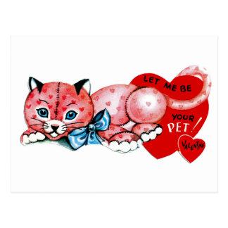 Let me be your pet, Valentine! Postcard