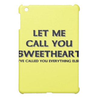 Let me call you sweetheart iPad mini cover