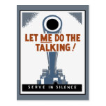 Let ME do the talking, cannon Postcard