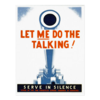 Let Me Do The Talking WWII Poster Postcard