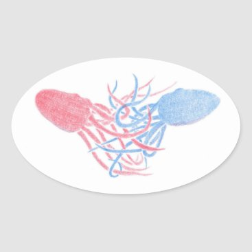 Beach Themed Let Me Hold You Oval Sticker