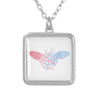 Beach Themed Let Me Hold You Silver Plated Necklace