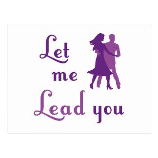 Let Me Lead You Postcard