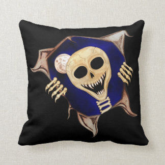 Let Me Out (Escaping Skeleton) Throw Pillow
