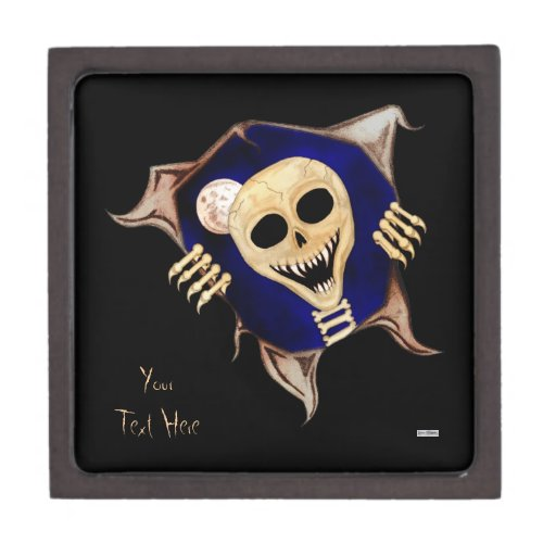 Let Me Out (Escaping Skeleton) Premium Trinket Boxes