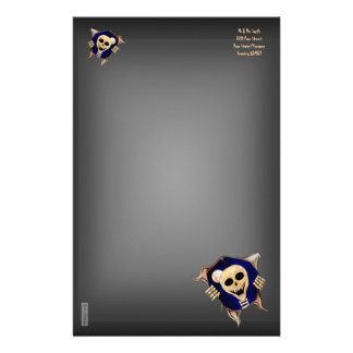 Let Me Out (Escaping Skeleton) Custom Stationery