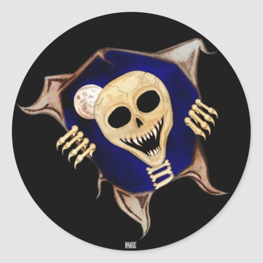 Let Me Out (Escaping Skeleton) Classic Round Sticker