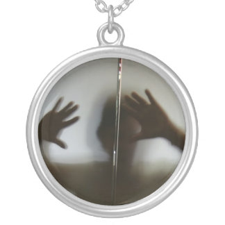 Let Me Out Silver Plated Necklace