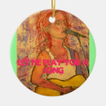 let me play you a song ceramic ornament