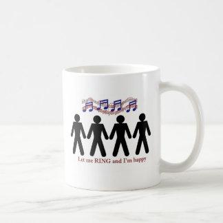 Let me ring classic white coffee mug