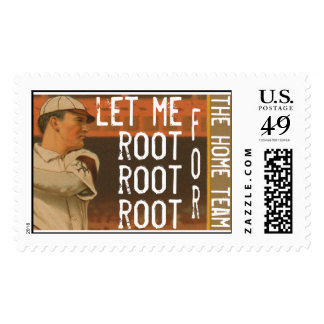 Let Me Root, Root, Root For The Home Team Stamp