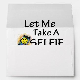Let Me Take A Selfie Envelope