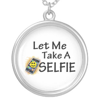 Let Me Take A Selfie Silver Plated Necklace
