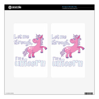 let me through i´m a unicorn skin for kindle fire