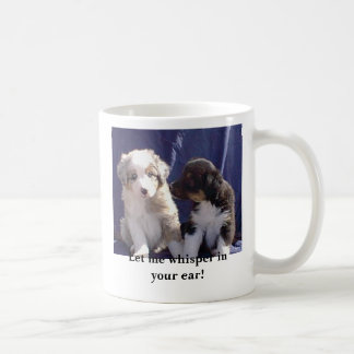 Let me whisper in your ear! coffee mug