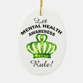 """""""Let Mental Health Awareness Rule!"""" Ornaments"""