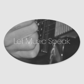 Let Music Speak Oval Sticker