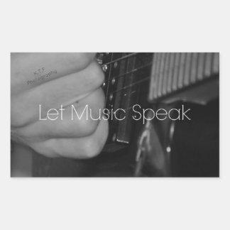 Let Music Speak Rectangular Sticker