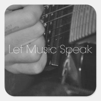 Let Music Speak Square Sticker