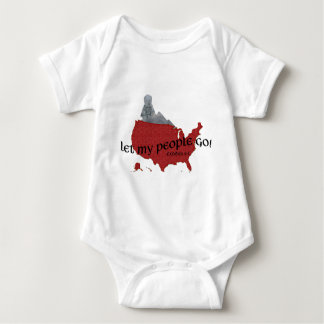 Let My People Go Barack Obama Superimposed Baby Bodysuit