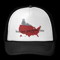 Let My People Go Barack Obama Superimposed Trucker Hat
