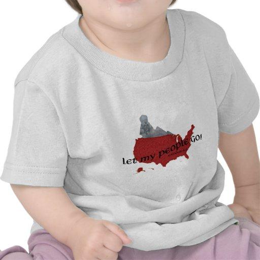 Let My People Go Barack Obama Superimposed T Shirts