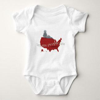 Let My People Go! Exodus 9:1 Baby Bodysuit