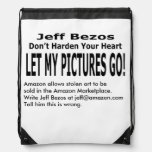Let My Pictures Go! Drawstring Backpack