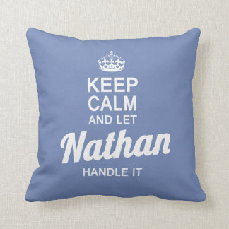 Let Nathan handle it! Throw Pillow