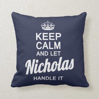Let Nicholas handle it! Throw Pillow