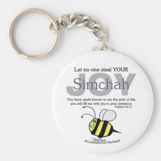 Let No One Steal YOUR Joy Simchah with bee Keychains