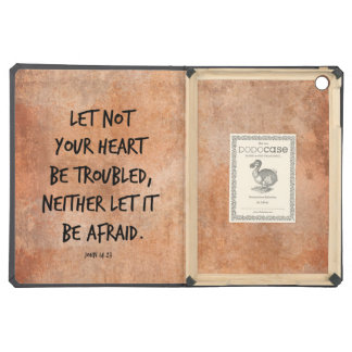 Let not your heart be troubled bible verse case for iPad air