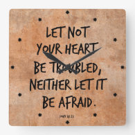 Let not your heart be troubled bible verse clock