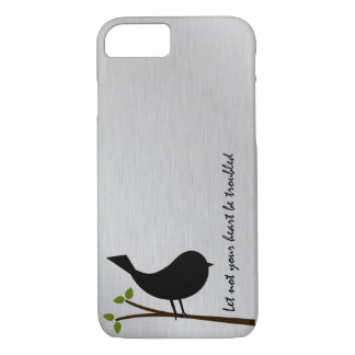 Let Not Your Heart be Troubled Bible Verse iPhone 7 Case