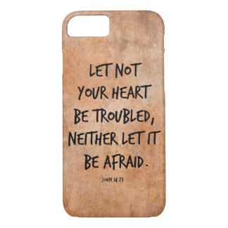 Let not your heart be troubled bible verse iPhone 8/7 case