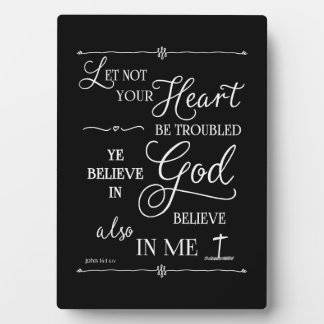 Let Not Your Heart Be Troubled Plaque