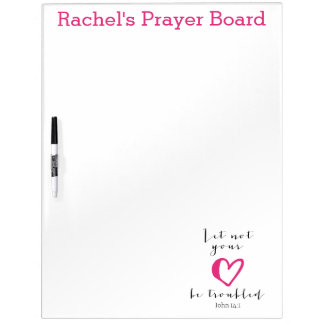 Let Not Your Heart Be Troubled Prayer Board Dry Erase Board