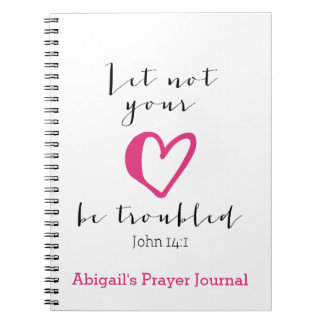 Let Not Your Heart Be Troubled Prayer Journal