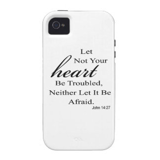 Let Not Your Heart Be Troubled Quote Case-Mate iPhone 4 Cover